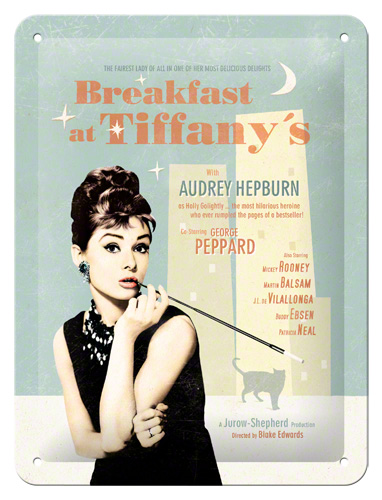 Placa 15x20 Breakfast at Tiffanys Blue