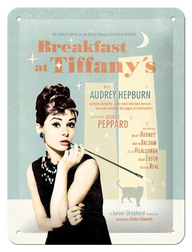 Placa 15x20 Breakfast at Tiffanys Blue