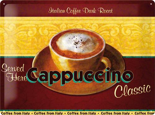 PLACA 30X40 CAFE CAPPUCCINO