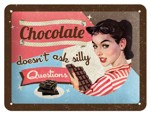 Placa 15x20 Chocolate Doesn't Ask