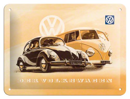 Placa 15x20 VW Käfer und Bully
