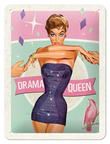 Placa 15x20 Drama Queen