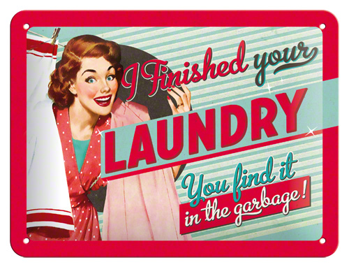 Placa 15x20 Finished Your Laundry