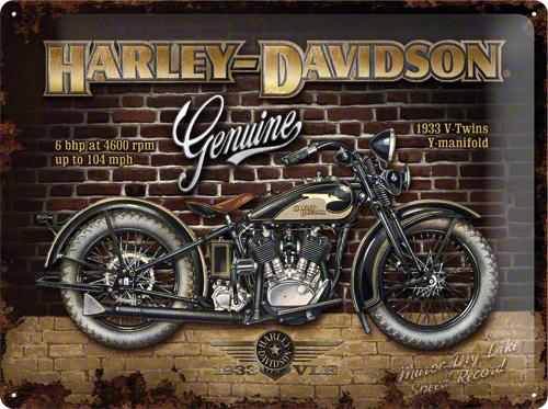 PLACA 30X40 HARLEY-DAVIDSON BRICK WALL
