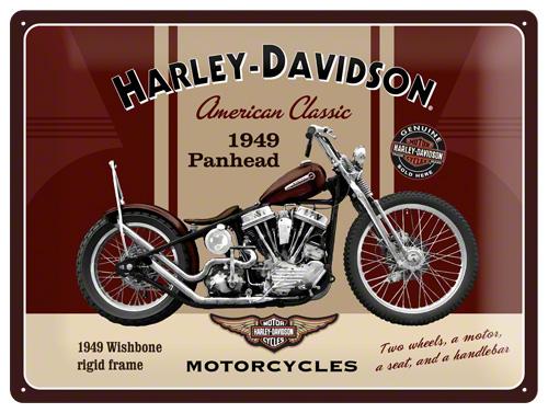 PLACA 30X40 HARLEY DAVIDSON PANHEAD