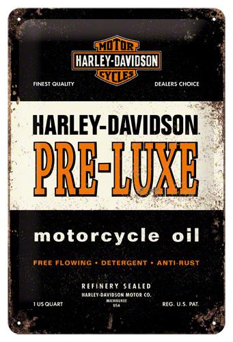 PLACA 20x30 HARLEY-DAVIDSON PRE-LUXE