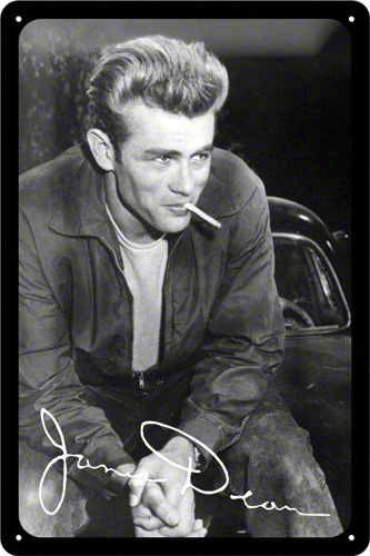 PLACA 20X30 JAMES DEAN SMOKE