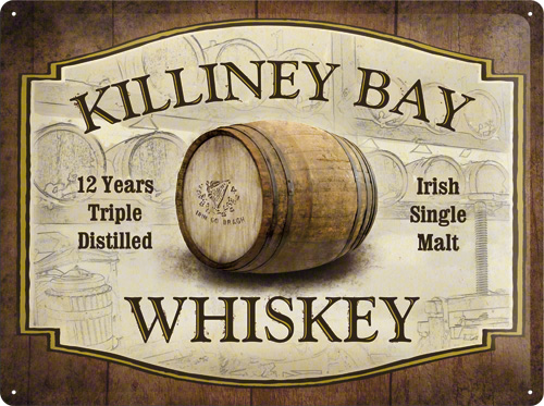 PLACA 30X40 KILLINEY BAY WHISKEY