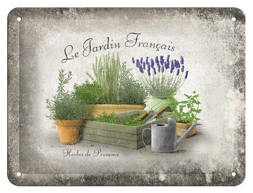 Placa 15x20 Jardin Francais