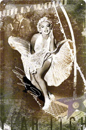 PLACA 20X30 MARILYN MONROE LUFTSCHACHT-COLLAGE