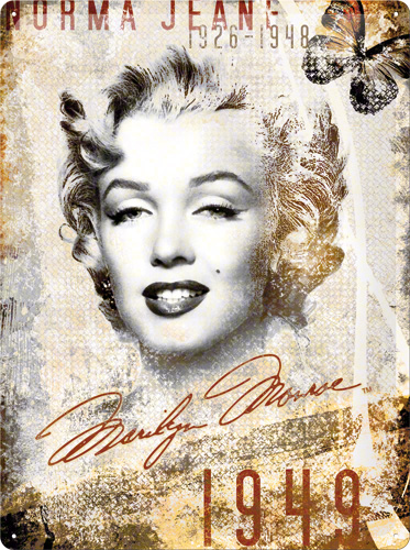 PLACA 30X40 MARILYN MONROE PORTRAIT-COLLAGE