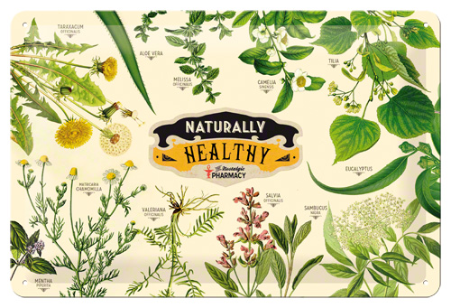 Placa 20x30 Pharmacy Naturally Healthy