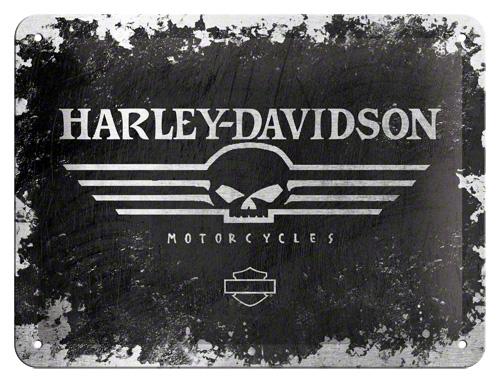 Placa 15x20 Harley-Davidson Skull