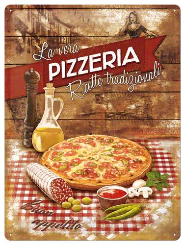 Placa 30x40 Pizzeria Italia