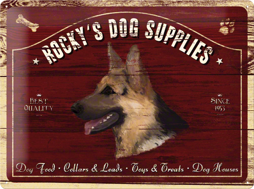 PLACA 30X40 ROCKY'S DOG SUPPLIES