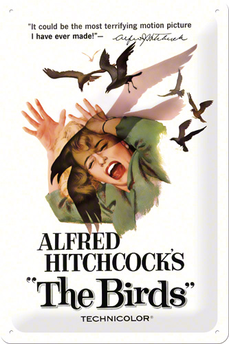 PLACA 20X30 ALFRED HITCHCOCK'S THE BIRDS