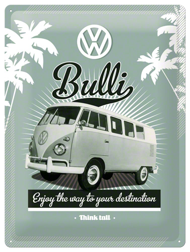 Placa 30x40 VW Retro Bully