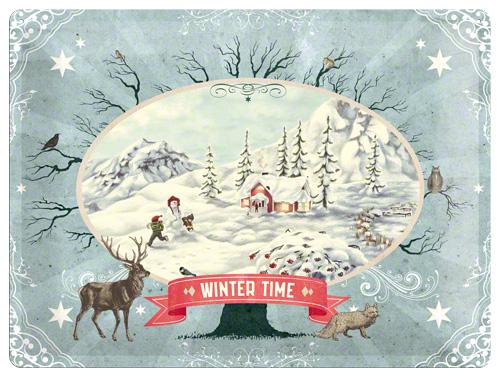 Placa 30x40 Winter Time Scenery