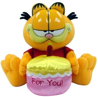 Plus Garfield,30.5cm, Happy Birthday