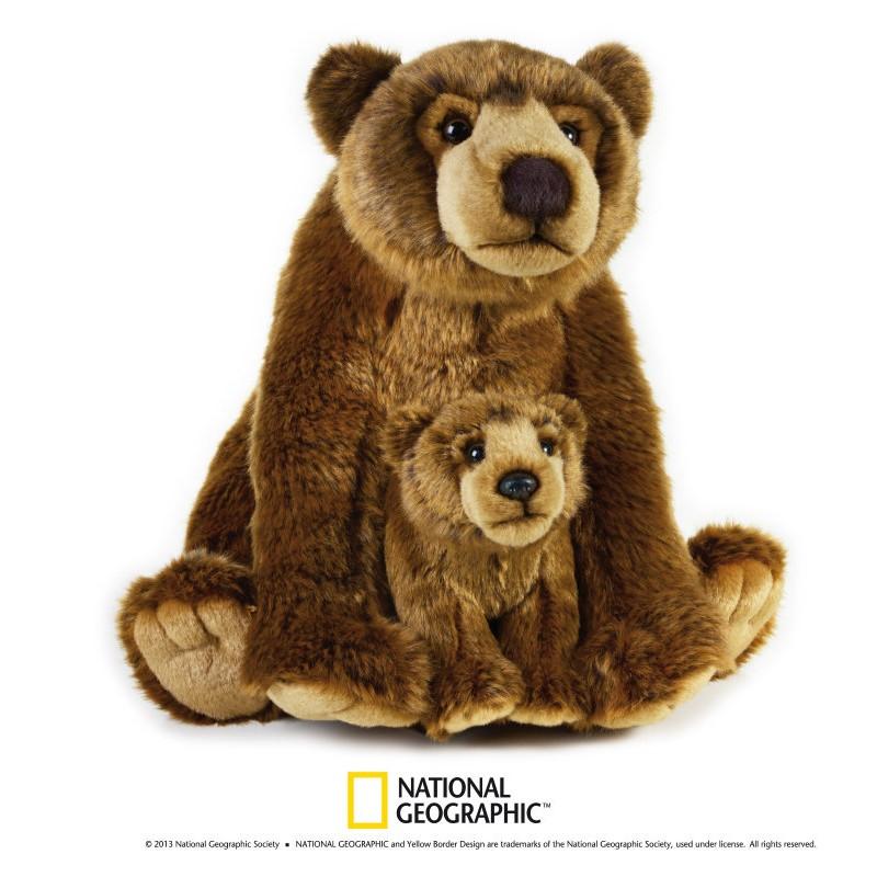 Plus NG,Urs grizzly cu pui,31 cm
