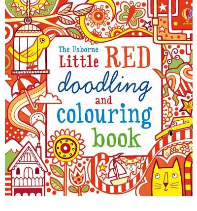 POCKET DOODLING & COLOURING BOOK: RED BOOK