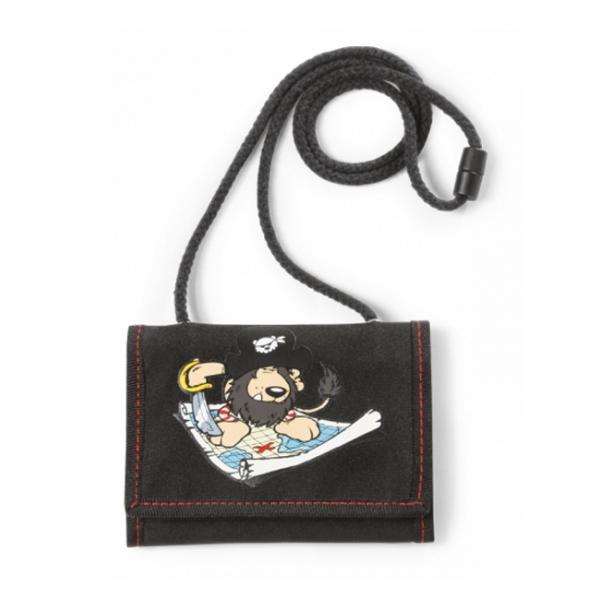 Portofel negru nylon Leu pirat