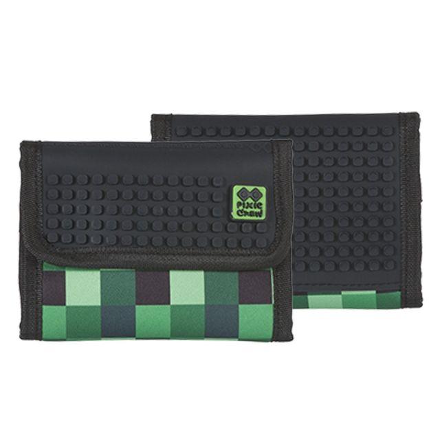 Portofel Pixie,negru/verde