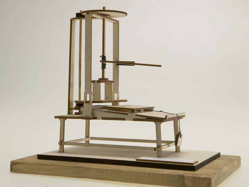 Presa de tiparit lemn Leonardo da Vinci
