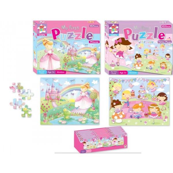 Primul meu puzzle, pt. fetite, 45 pcs, diverse modele
