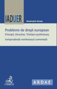 PROBLEME DE DREPT EUROPEAN