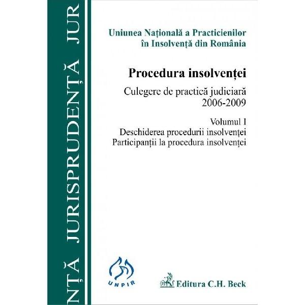 PROCEDURA INSOLVENTEI. CULEGERE DE PRACTICA JU