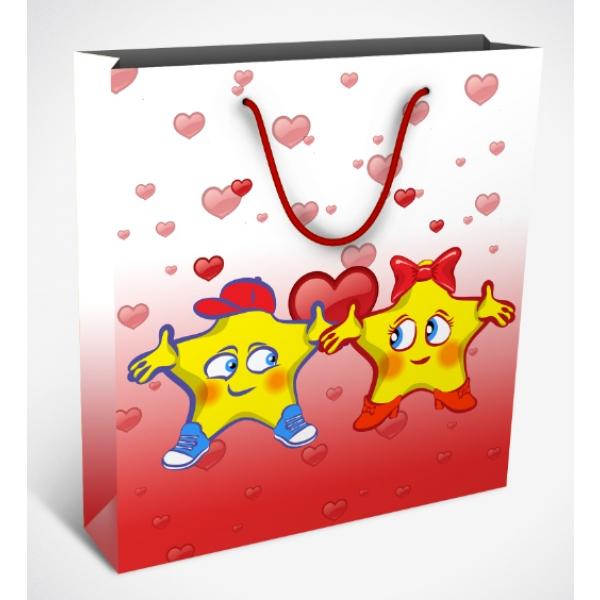 Punga de cadou Famous Love mica