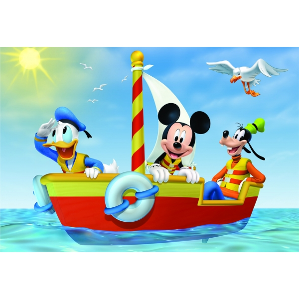 Puzzle 2 in 1 Mickey Mouse, 2 x 48 pcs.