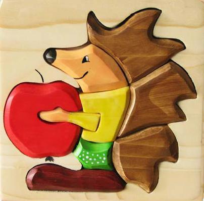 Puzzle 3D Arici din lemn