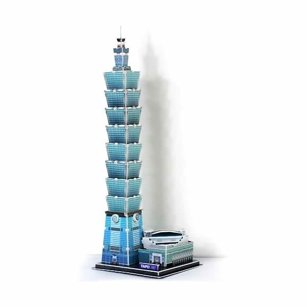 Puzzle 3D Taipei Building, 68 piese