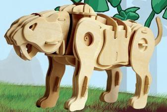 Puzzle 3D Tigru