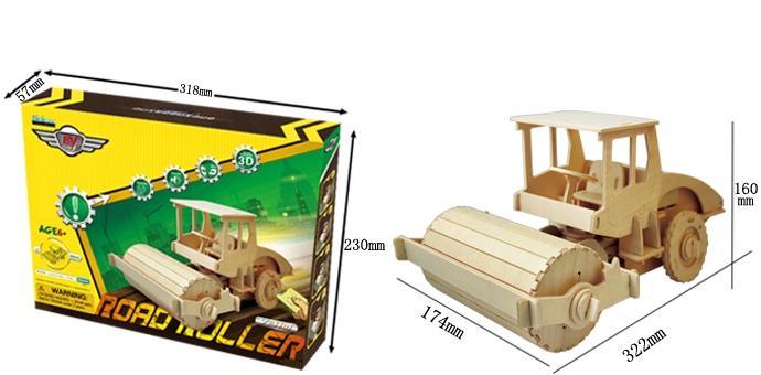 Puzzle 3D Tractor cu tavalug