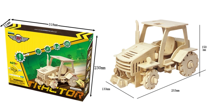Puzzle 3D Tractor