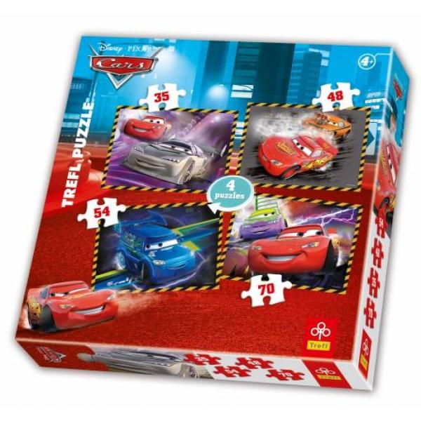 Puzzle 4 in 1 Cars, 35-45-54-70 pcs.