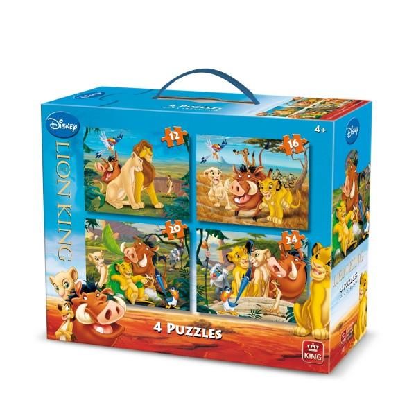 Puzzle 4 in 1 Lion King, 12-16-20-24pcs.