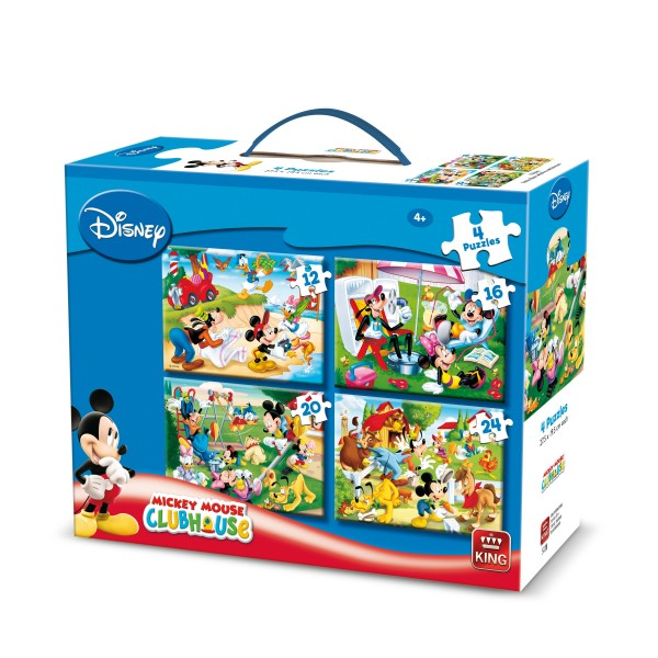 Puzzle 4 in 1 Mickey, 12-16-20-24 pcs.