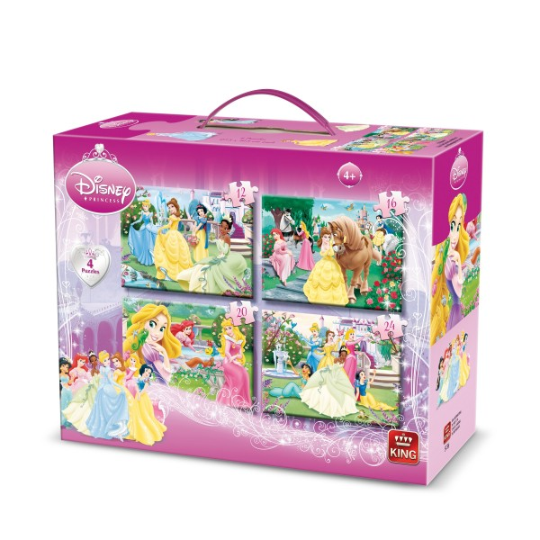 Puzzle 4 in 1 Princess, 12-16-20-24 pcs.