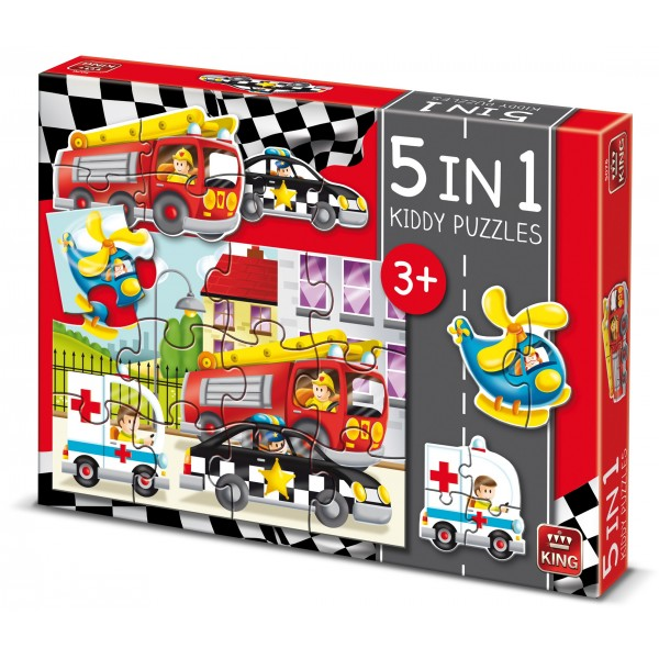 Puzzle 5 in 1 Cars