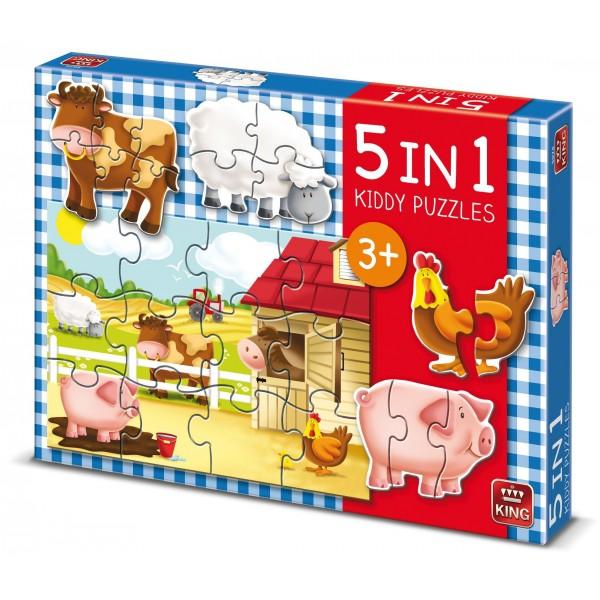 Puzzle 5 in 1 Ferma