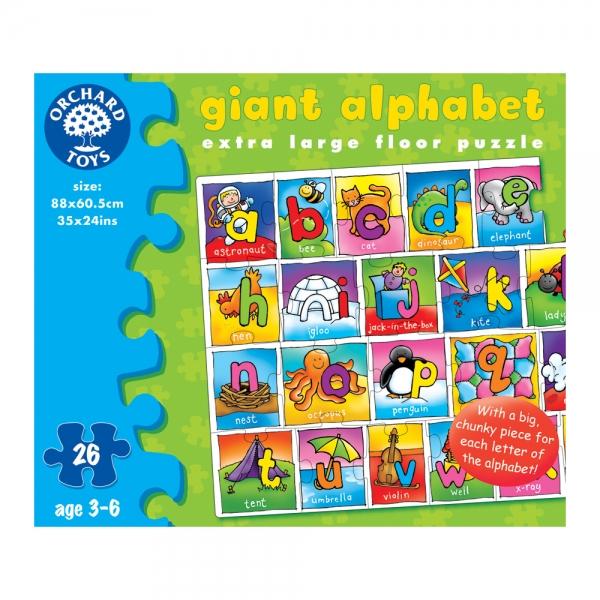 Puzzle Alfabetul urias