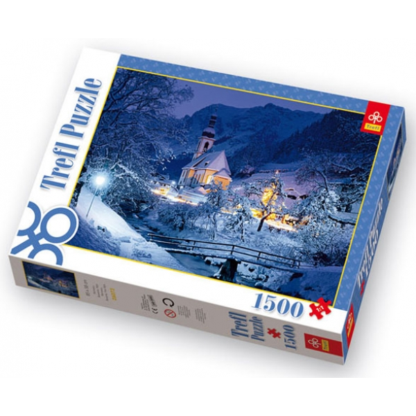 Puzzle Alpii Bavarezi iarna, 1500 piese