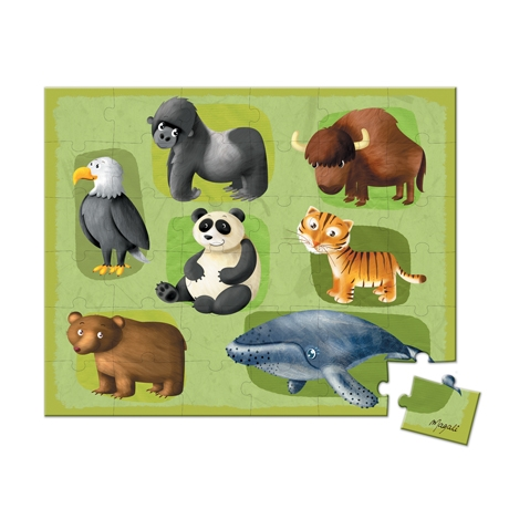 Puzzle Animale rare,36 piese