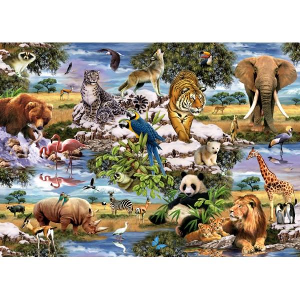 Puzzle Animale salbatice, 1000 pcs.