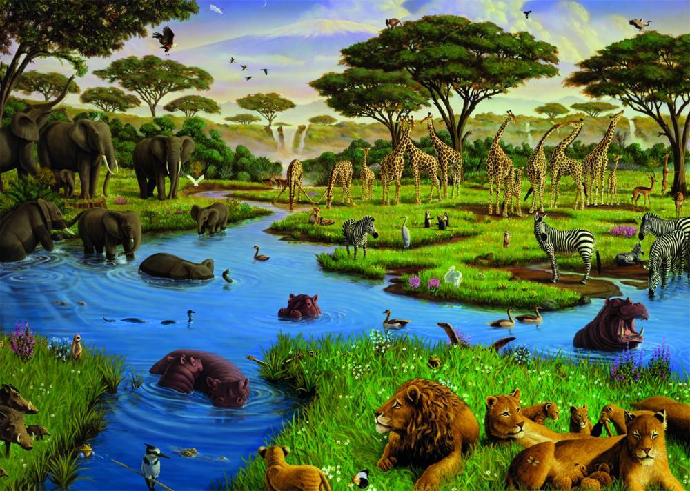 Puzzle Animale salbatice, 2000 pcs
