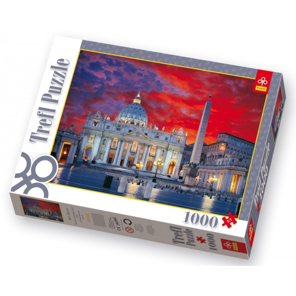 Puzzle Bazilica Sf. Petru din Roma, 1000 pcs.